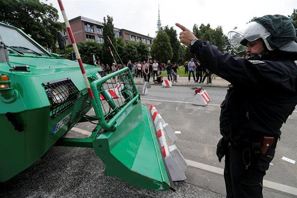 Protestas en Hamburgo durante la Cumbre del G20 | Créditos: EFE