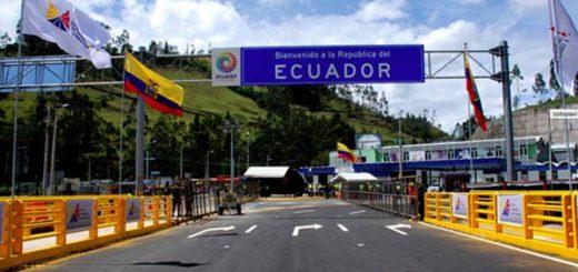 Frontera de Ecuador |Foto cortesía El Nacional