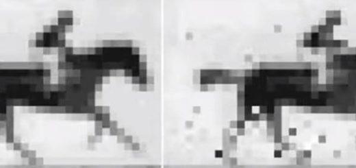 Comparación entre la imagen original (izquierda) y la reconstrucción de la imagen almacenada en ADN bacteriano (derecha). |Cortesía: La Vanguardia