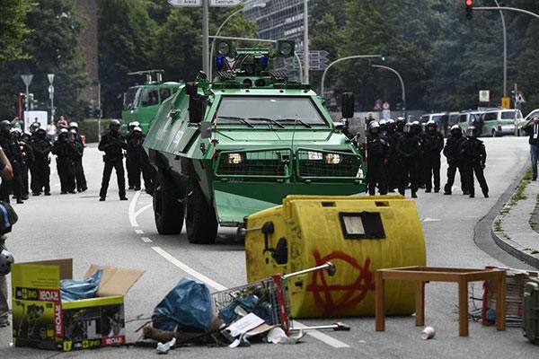 Comienza en Hamburgo la cumbre del G20 con nuevos disturbios   Foto: EFE