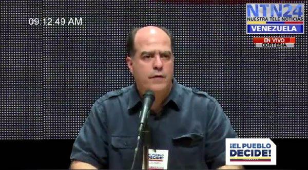 Julio Borges habla al país sobre la jornada de Consulta Popular #16Jul |Foto: NTN24