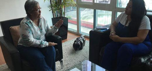 Katherine Haringhton se reunió este miércoles con Tibisay Lucena | Foto: @KHaringhtonVFG