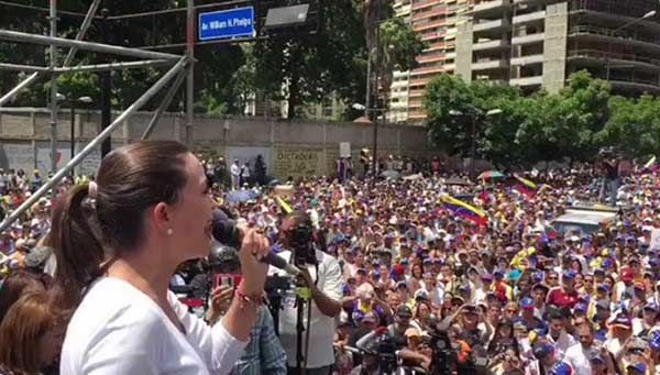 María Corina Machado, Coordinadora nacional de Vente Venezuela   Foto: Captura de video