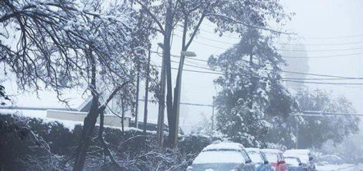 La nevada que sorprendió a Chile este sábado  Foto: EFE