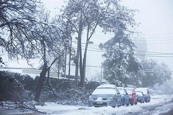 La nevada que sorprendió a Chile este sábado |Foto: EFE