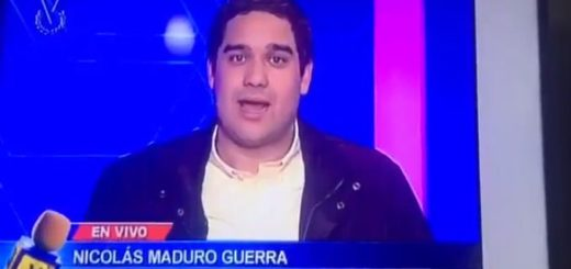 Nicolás Maduo hijo en entrevista para Venevisión | Foto: captura de video