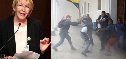 Fiscal General, Luisa Ortega Díaz, pide que cese la violencia tras lo ocurrido en la AN | Composición