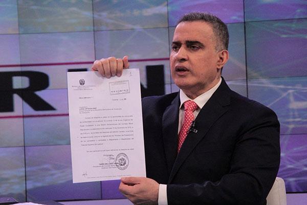Defensor del Pueblo reveló resultados de pruebas grafotécnicas a firma de la Fiscal General   Foto referencial
