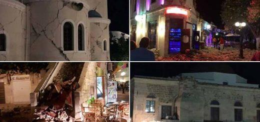 Al menos dos muertos y 100 heridos tras terremoto de 6.2 en el Mediterráneo | Fotos: Vía Twitter