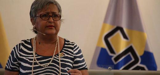 Tibisay Lucena dijo que CNE anuncia nuevos cambios para jornada de Constituyente |Foto cancilleria