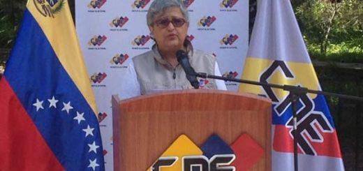 Tibisay Lucena, presidenta del Consejo Nacional Electoral (CNE) |Foto: La Patilla