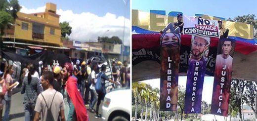 studiantes de la UDO Cumaná tomaron las calles en rechazo a la Constituyente | Fotos: Vía Twitter