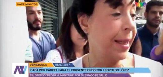 Madre de Leopoldo López ofrece primeras declaraciones |Foto: captura de video