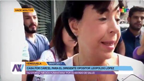 Madre de Leopoldo López ofrece primeras declaraciones  Foto: captura de video