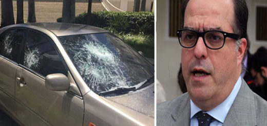 Grupo violento destrozó a batazos el carro del Presidente de la AN | Composición