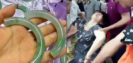 Mujer se desmayó del Shock al romper brazalete |  Crédito: AsianWire