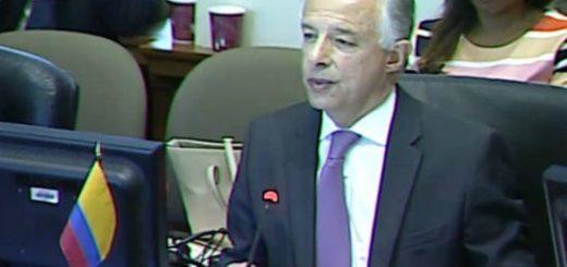 Canciller de Colombia en la OEA | Foto: captura de video