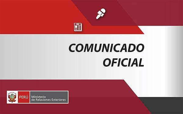 Comunicado de Perú |Foto cortesía