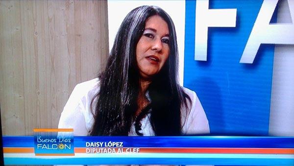 Daicis Lopez, diputada del Consejo Legislativo de Falcón   Foto: Twitter