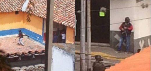 Colectivos acechando casa del alcalde de Ejido | Fotos: Twitter