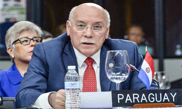 Eladio Loizaga, Canciller de Paraguay   Foto: Cortesía