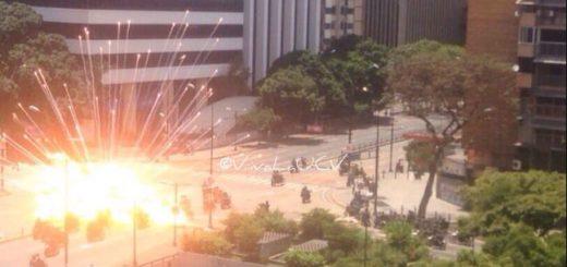 Explosión en Altamira | Foto: @VivaLaUCV