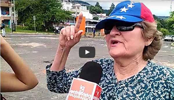 Vecina denuncia abusos de la GNB   Foto: captura de video