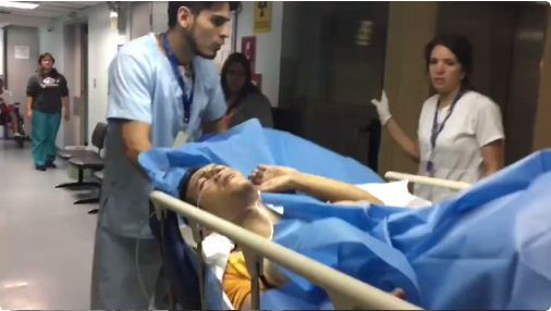 Herido durante represión en Bello Campo | Foto: captura de video