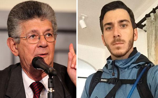 Hijo de Ramos Allup se pronunció en apoyo a su padre | Composición