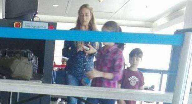 Lilian Tintori en el aeropuerto | Foto: El Nacional