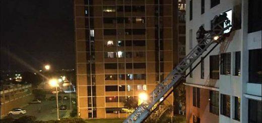Se incendia apartamento en llamas por lacrimógena | Foto: Twitter
