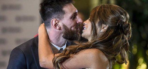 Lionel y Antonella legalmente esposos |Foto: Infobae