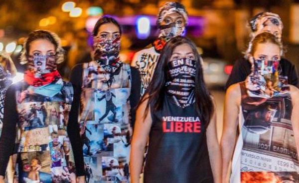Diseñadora venezolana llevó las protesta antigubernamentales a la pasarela | Foto: @lisuvega