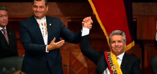 Rafael Correa y Lenín Moreno  Foto: AFP