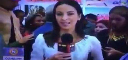 Periodista de VTV | Foto: Captura de video