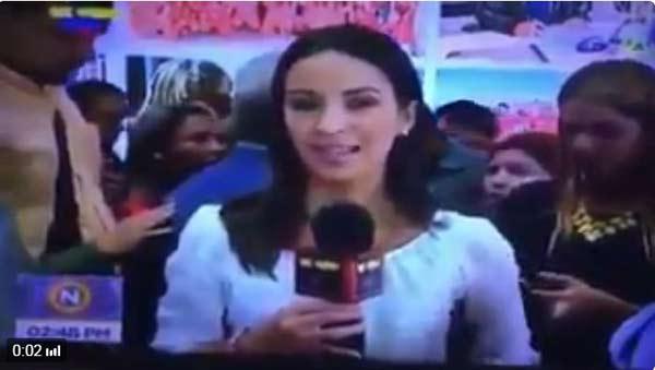 Periodista de VTV   Foto: Captura de video