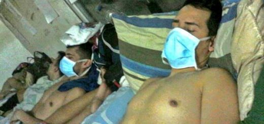 Funcionarios de Polichacao en huelga de hambre   Foto: @los14polichacao