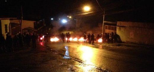 Protesta en Los Andes | Foto: Twitter