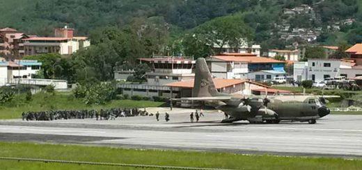 Arriban refuerzos de la GNB a Mérida | Foto: Twitter