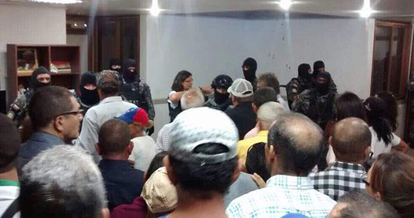 Sebin desmantela alcaldía de Alfredo Ramos | Foto: Twitter