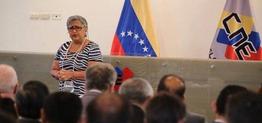 Tibisay Lucena, Presidenta del CNE | Foto: Vía Twitter