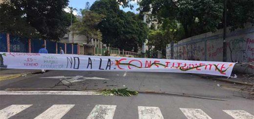 """Opositores atendieron el llamado a """"trancazo"""" en Caracas este #4Jul   Foto: Vía Twitter"""