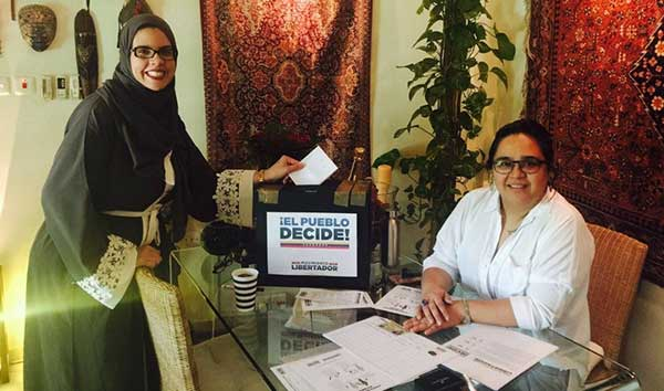 Venezolanos en Arabia Saudí votan en la consulta Popular | Foto: Twitter