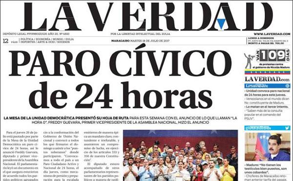 Portadas de los diarios nacionales de este #18Jul | Imagen: kioskea.net