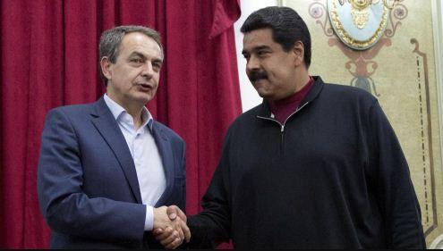 José Luis Rodríguez Zapatero y Nicolás Maduro | Foto: EFE