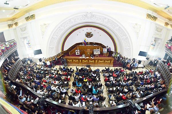 Sesión de la Asamblea Nacional Constituyente en el hemiciclo de sesiones de la AN  Foto cortesía