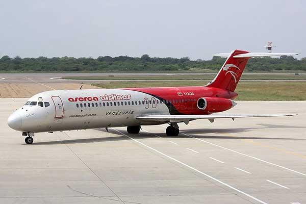 Aserca Airlines anunció cancelación temporal de su ruta Caracas - República Dominicana | Foto: Archivo