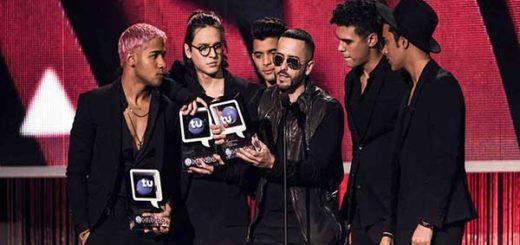 CNCO fueron los grandes ganadores de los Premios Tu Mundo 2017 | Foto: Telemundo