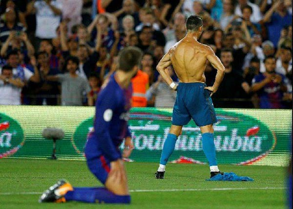 Cristiando Ronaldo celebró el resultado del partido |Foto agencia