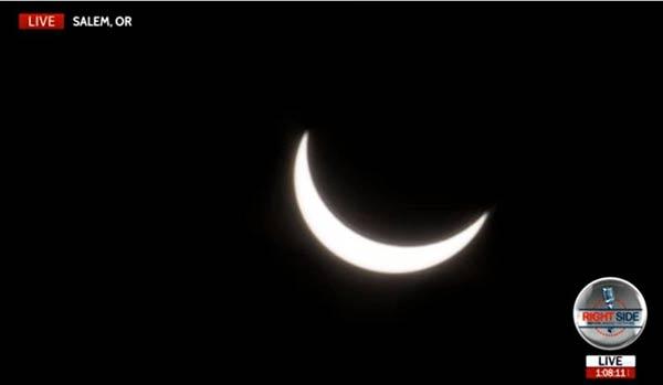 En Estados Unidos ya comenzó el Eclipse |Captura de video